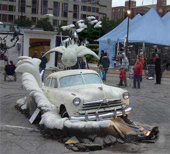 click for 'car chase' sculpture gallery