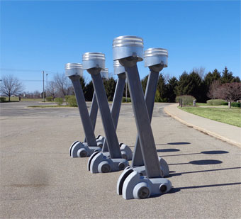 click for 'street hemi piston lamps' sculpture gallery