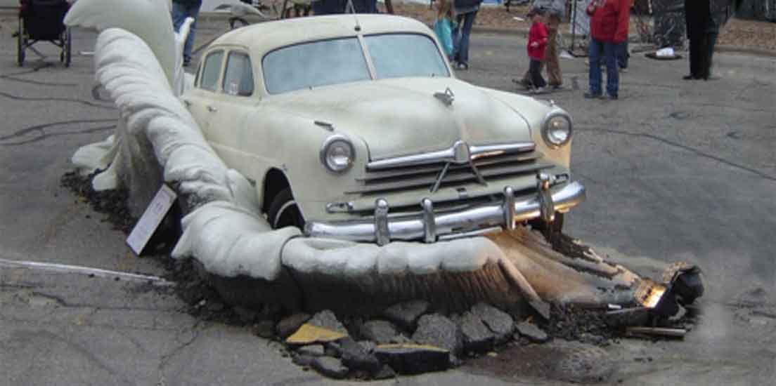 Car Chase Sculpture by Tj Aitken Cover Image