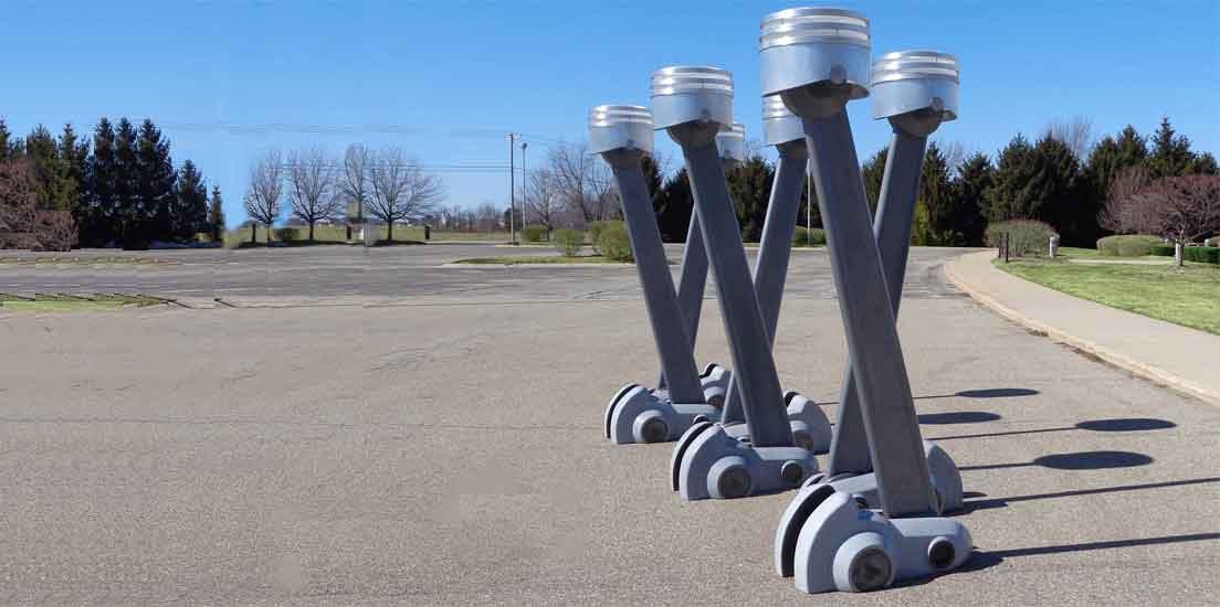 Hemi Pistons Sculpture by Tj Aitken Cover Image